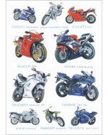 wenskaart clanna cards - ducati - triumph sprint - yamaha - motoren