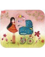 ansichtkaart met envelop - tv kaart - mila - kinderwagen