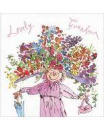 moederdagkaart quentin blake - lovely grandma (oma)
