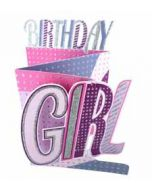3d verjaardagskaart cutting edge - birthday girl