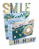 3d verjaardagskaart cutting edge - smile it is your birthday - camera