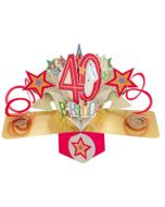 40 jaar - 3D kaart - pop ups - 40th birthday