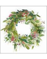 5 kerstkaarten woodmansterne - kerstkrans