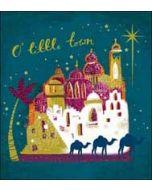 5 christelijke kerstkaarten woodmansterne - o little town - ster kamelen