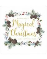luxe kerstkaart woodmansterne - wishing you a magical christmas and a happy new year