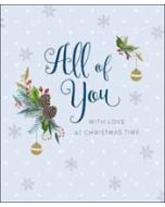 grote kerstkaart woodmansterne - all of you with love at christmas time