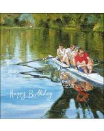 verjaardagskaart woodmansterne - happy birthday - roeien
