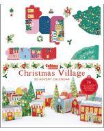 3D adventskalender A3 - bouw een dorpje in kerstsfeer - kleurig