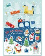 adventskalender A4+ met stickers - trein naar de noordpool