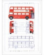 wenskaart clanna cards - routemaster bus