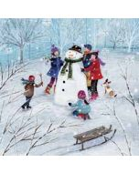 5 kerstkaarten woodmansterne - sneeuwpop