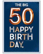 50 jaar verjaardagskaart copper - the big 50 happy birthday