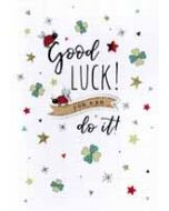 wenskaart - good luck! you can do it!