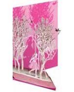laser gesneden wenskaart roger la borde - sprookjes prinses - boek