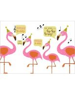 ansichtkaart verjaardagskaart - happy birthday - flamingo