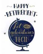 grote wenskaart A4 - pensioen - happy retirement let new adventures begin