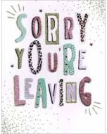 grote afscheidskaart A4 - sorry you re leaving