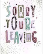 grote afscheidskaart A4 - sorry you re leaving