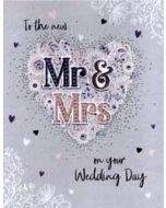 grote wenskaart A4 trouwen - to the new mr and mrs on your wedding day