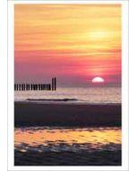 grote kaart A4 - zonsondergang