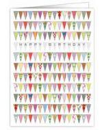 verjaardagskaart A4 - happy birthday - vlaggetjes