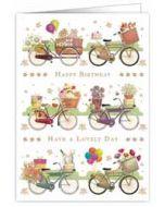 verjaardagskaart A4 - happy birthday have a lovely day - fietsen
