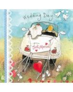 trouwkaart  - alex clark - wedding day just married - auto