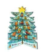 3D adventskalender A3 - kerstboom uilen
