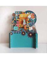 3d pop up kinderkaart - robot