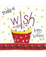 verjaardagskaart alex clark - make a wish - cupcake