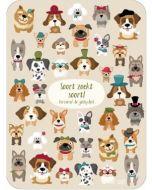 ansichtkaart - lali - zoekplaatje - soort zoekt soort! verzamel de geliefden! - honden