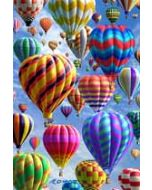 3d ansichtkaart - lenticulaire kaart  - luchtballonnen