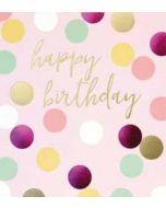 verjaardagskaart caroline gardner spot on - happy birthday - roze