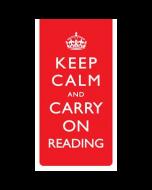 Magnetische boekenlegger: Keep calm and carry on reading