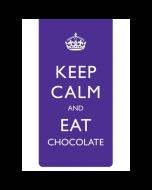 Magnetische boekenlegger: Keep calm and eat chocolate
