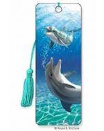3D lenticulaire boekenlegger - dolfijnen