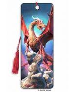 3D lenticulaire boekenlegger - rode draak