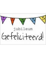 5 jaar - jubileum wenskaart - gefeliciteerd - vlaggetjes