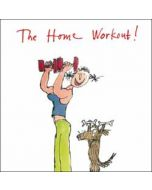 wenskaart woodmansterne corona - the home workout! - quentin blake