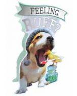 3d beterschapskaart paper dazzle - feeling ruff