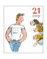21 jaar - grote verjaardagskaart woodmansterne - 21 today