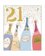 21 jaar - grote verjaardagskaart woodmansterne - 21 - champagne