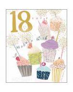 18 jaar - grote verjaardagskaart woodmansterne - make a wish - cupcakejes