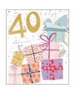 40 jaar - grote verjaardagskaart woodmansterne - happy birthday to you - cadeautjes