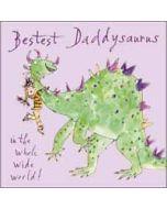 vaderdagkaart quentin blake - bestest daddysaurus in the whole wide world!