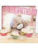 me to you 3D verjaardagskaart - happy birthday - cupcakejes