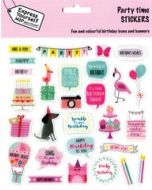 stickers - birthday girl - party time