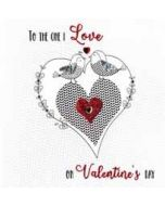 luxe valentijnskaart - to the one I love on valentines day