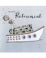 luxe pensioenkaart - happy retirement - boot