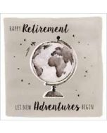 grote luxe pensioen kaart - happy retirement let new adventures begin